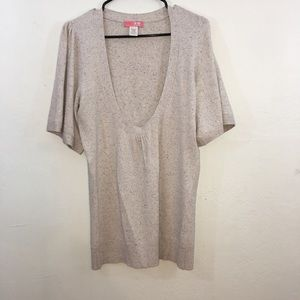 Lux Women's Beige Pullover Sweater SS Size Large